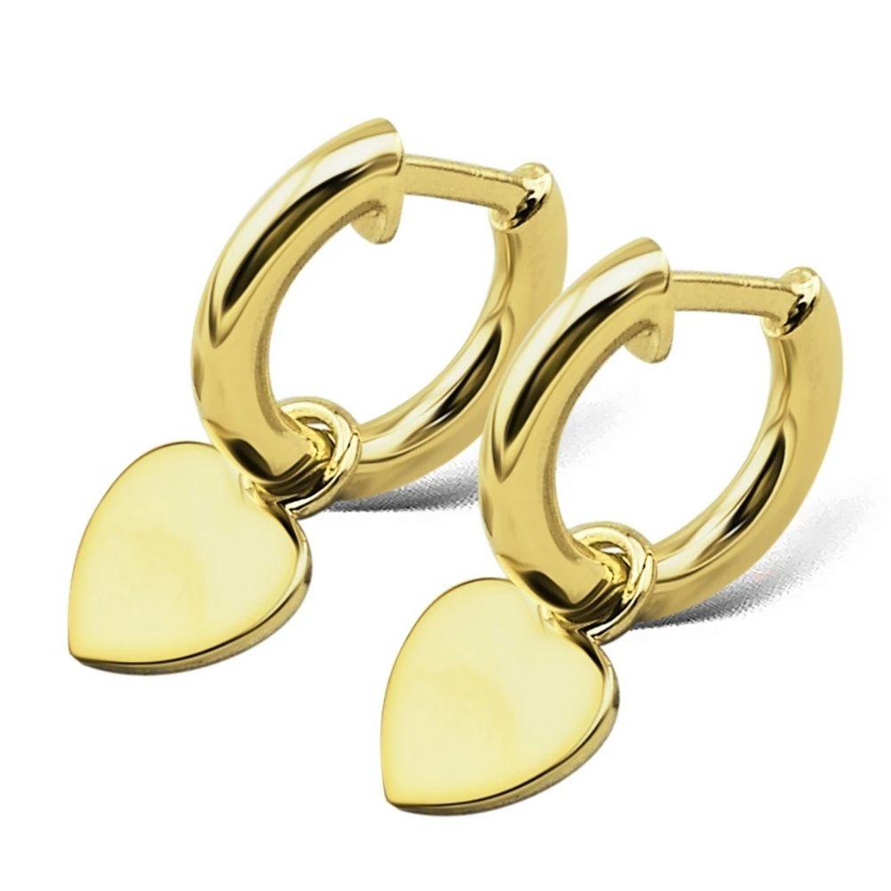 JWLS4U | Earrings Heart Gold