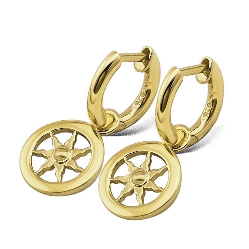 JWLS4U | Earrings Sun Gold