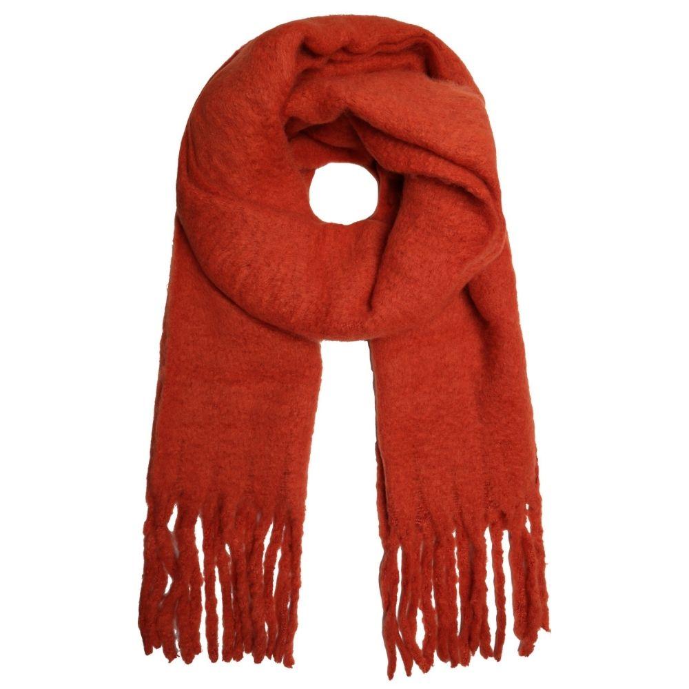 SELECTED | Sjaal franje oranje