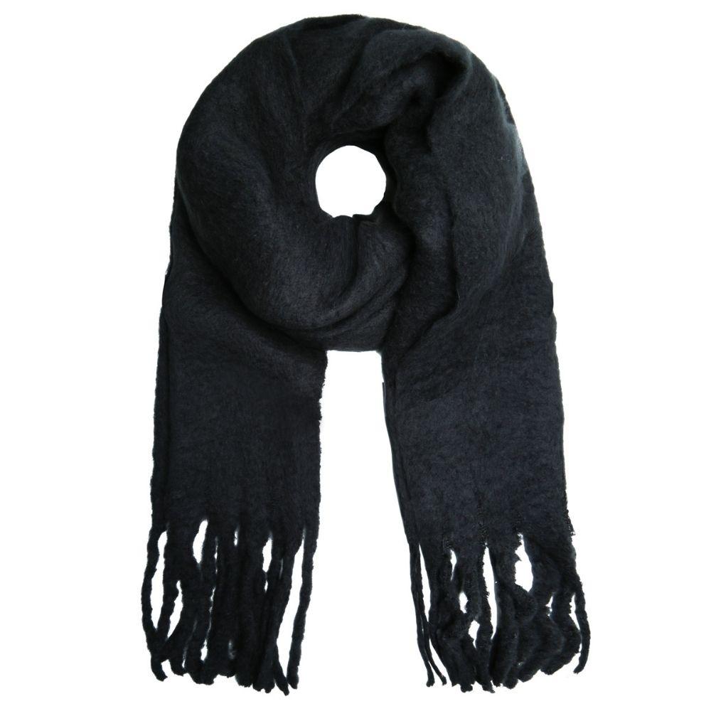 SELECTED   Sjaal franje zwart