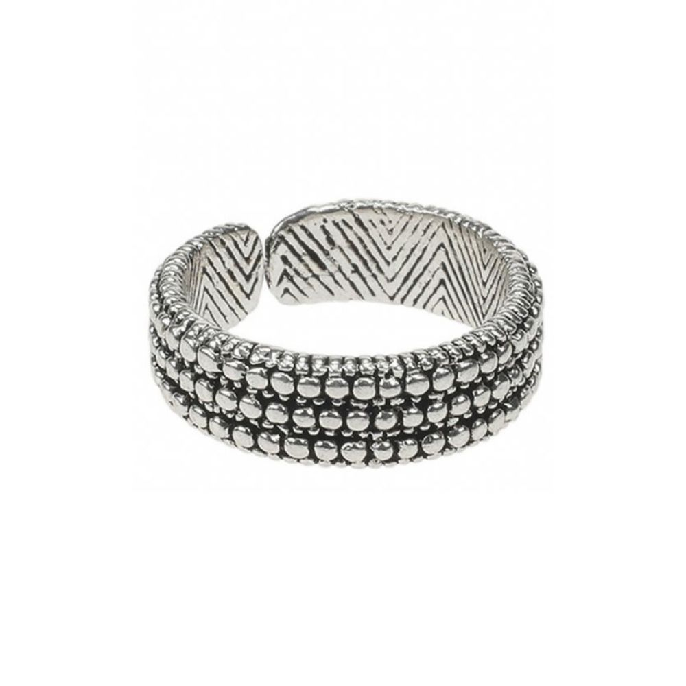 CAMPS & CAMPS   Ring dotted silver plated