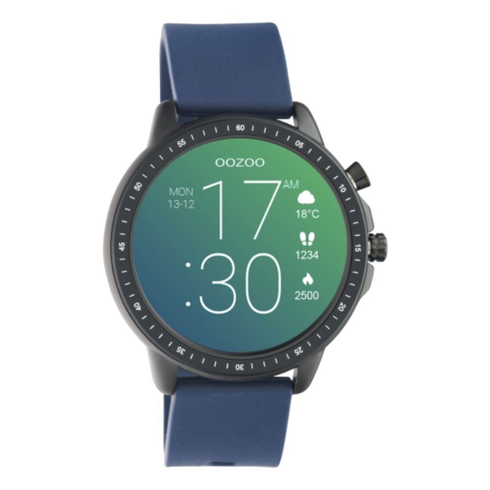 OOZOO | Smartwatch unisex black/blue rubber