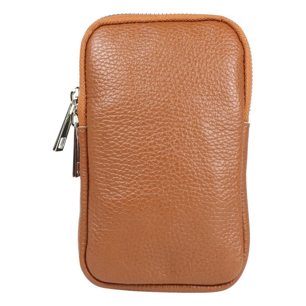 Baggyshop | Call me up leather - Cognac/Silver