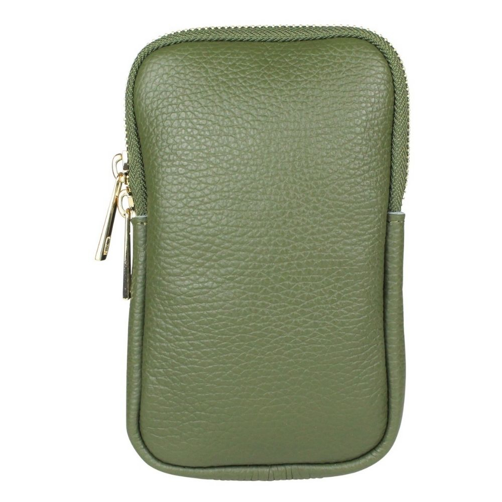 Baggyshop | Call me up Leather - Groen/Goud