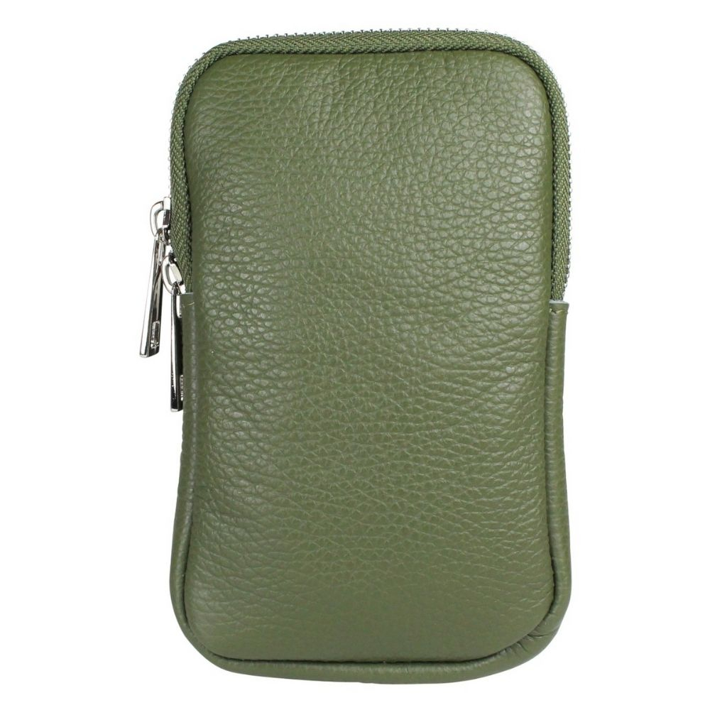 Baggyshop | Call me up Leather - Groen/Zilver