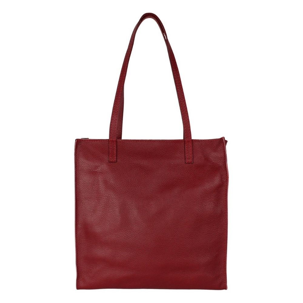 Baggyshop | Paper Bag Exclusive leer - Bordeaux