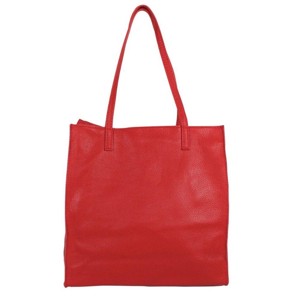 Baggyshop | Paper Bag Exclusive leer - Rood