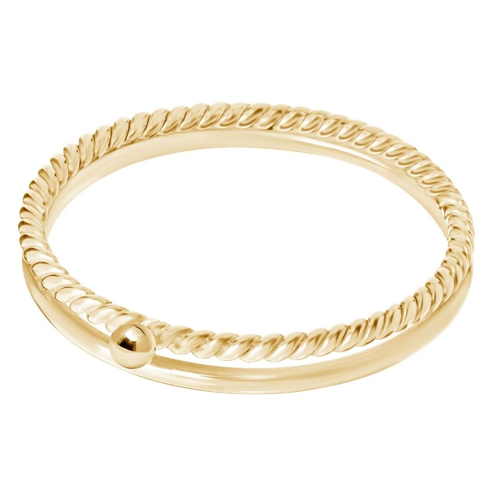 A BREND   Charla 18K Gold Plated Ring Maat 19