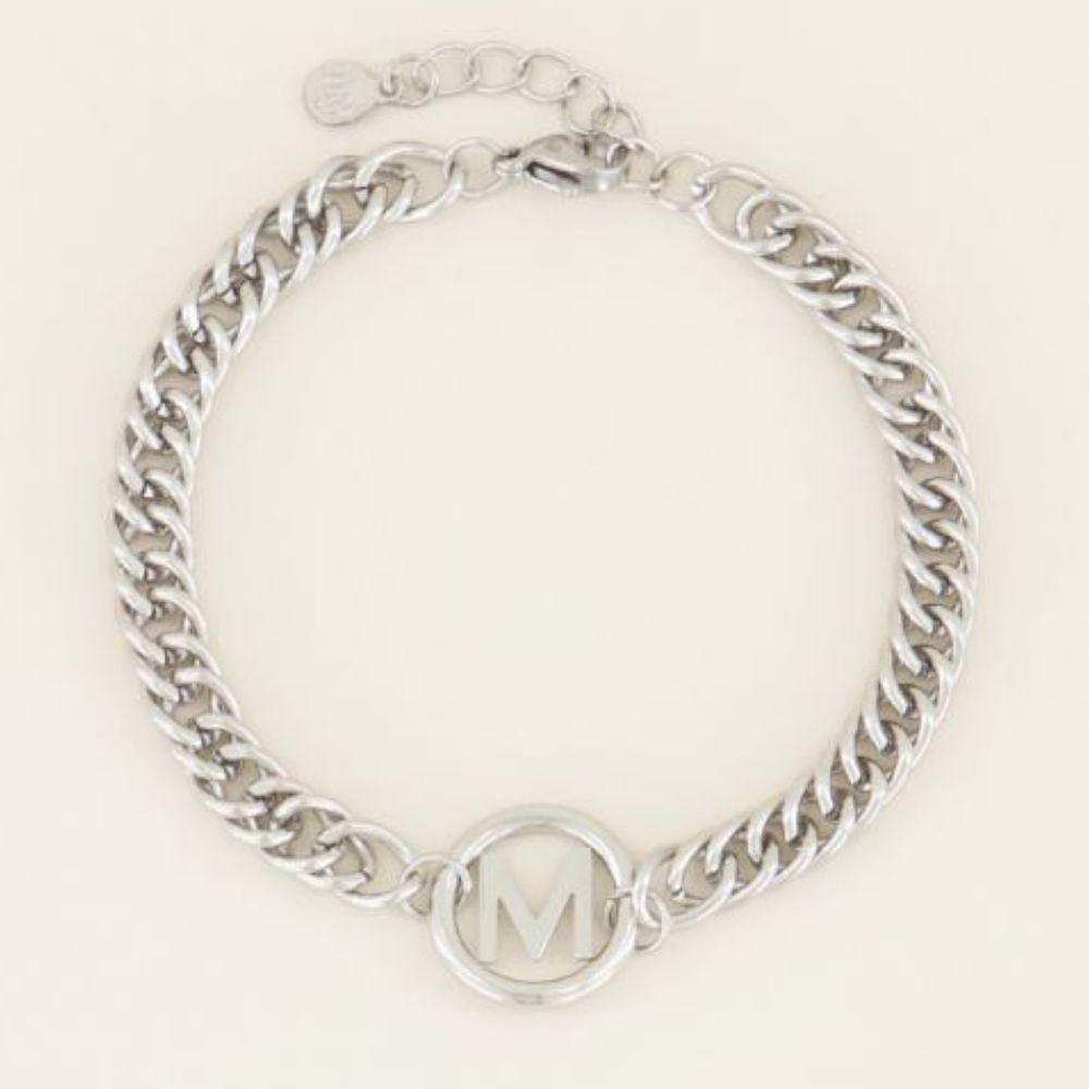 MY JEWELLERY | Armband chunky initials silver